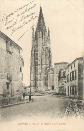 "CPA FRANCE 17 "" Saintes, Clocher de l'église St Eutrope""."