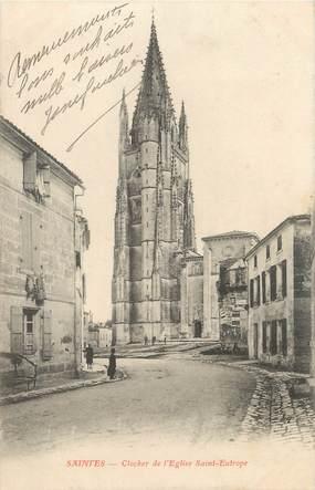 """CPA FRANCE 17 """" Saintes, Clocher de l'église St Eutrope""""."""