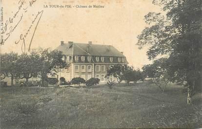 """CPA FRANCE 38 """" La Tour du Pin, Le Château de Marlieu""""."""