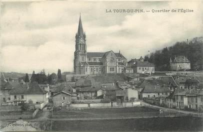 """CPA FRANCE 38 """" La Tour du Pin, Quartier de l'église""""."""