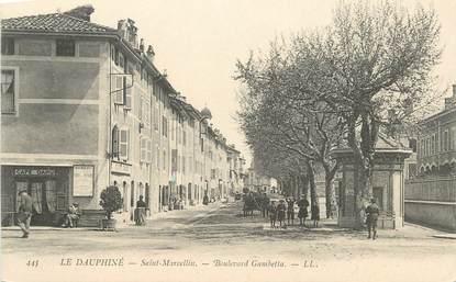 "CPA FRANCE 38 "" St Marcellin, Boulevard Gambetta""."