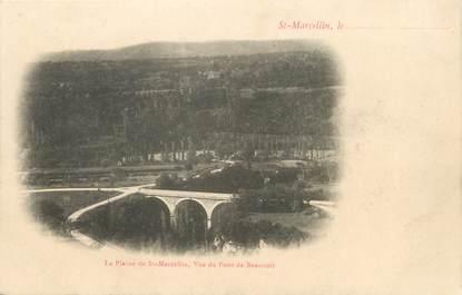 """CPA FRANCE 38 """" St Marcellin, La plaine, vue du pont de Beauvoir""""."""
