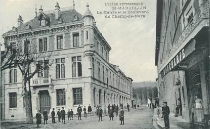 """CPA FRANCE 38 """" St Marcellin, La Mairie et le Boulevard du Champ de Mars""""."""
