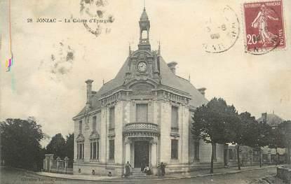 """CPA FRANCE 17 """" Jonzac, La Caisse d'Epargne"""". / CAISSE D'EPARGNE"""
