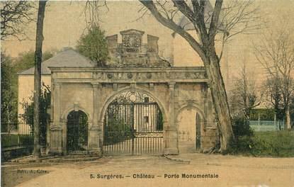 """CPA FRANCE 17 """" surgères, Porte monumentale du château""""."""
