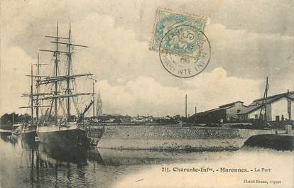 "CPA FRANCE 17 "" Marennes, Le port""."