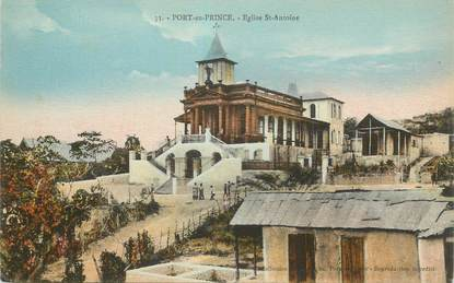 "CPA HAITI ""Port au Prince, Eglise Saint Antoine"""