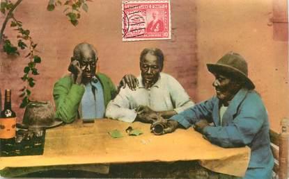 """CPA HAITI """"Port au Prince, joueurs de dés"""""""