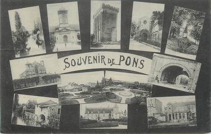 "CPA FRANCE 17 "" Pons, Vues""."