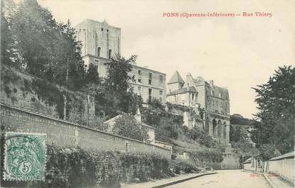 "CPA FRANCE 17 "" Pons, Rue Thiers""."
