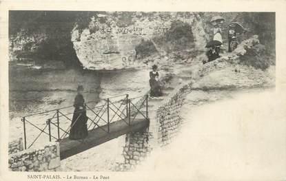 """CPA FRANCE 17 """" St Palais Le Bureau, Le pont""""."""