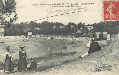 """CPA FRANCE 17 """" St Palais Le Bureau, Vue de la plage prise des dunes""""."""