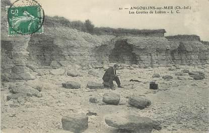 """CPA FRANCE 17 """" Angoulins sur Mer, Les grottes de Loiron'."""