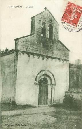 "CPA FRANCE 17 "" Ste Même, L'église""."