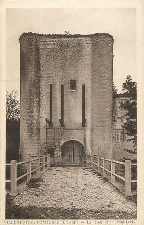 """CPA FRANCE 17 """" Villeneuve la Comtesse, La tour le pont levis"""""""