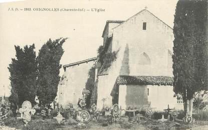 """CPA FRANCE 17 """" Orignolles, L'église""""."""