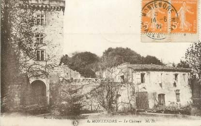 """CPA FRANCE 17 """" Montendre, Le château""""."""