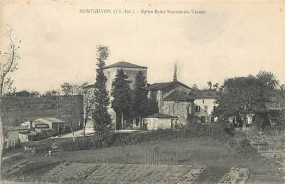 """CPA FRANCE 17 """" Montguyon, Eglise St Vincent de Vassiac'."""