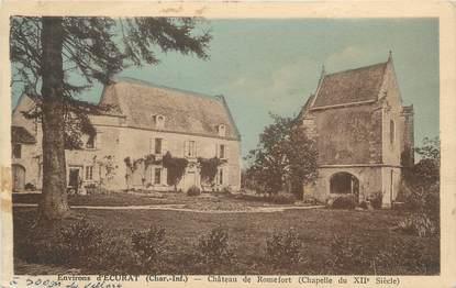 """CPA FRANCE 17 """"Environs d'Ecurat, Le Château de Romefort""""."""