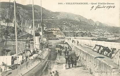 """CPA FRANCE 06   """"Villefranche sur Mer, quai Vieille Darse"""""""