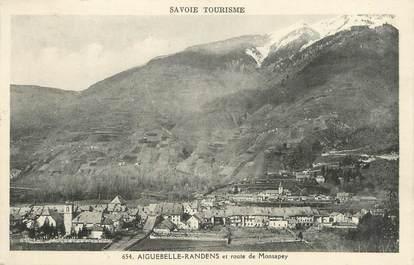 "CPA FRANCE 73 ""Aiguebelle - Randens, Route de Monsapey""."