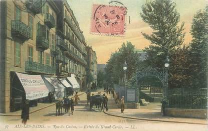 """CPA FRANCE 73 """" Aix les Bains, Rue du Casino, entrée du Grand Cercle""""."""