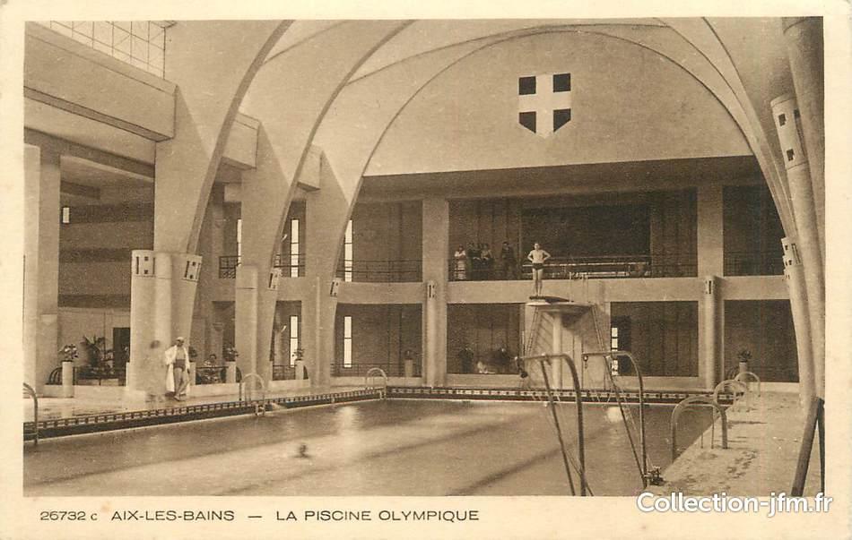 Cpa france 73 aix les bains la piscine olympique 73 for Piscine aix les bains