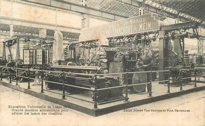 """CPA BELGIQUE """"Liège, machine pour affuter les lames de Cisailles"""" / EXPOSITION UNIVERSELLE 1905"""