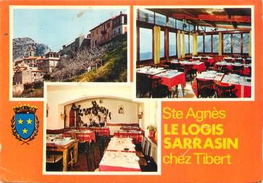 """CPSM FRANCE 06 """"Ste Agnès, Le Logis Sarrasin"""""""