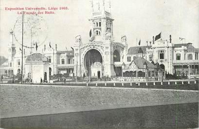 """CPA BELGIQUE """"Liège, la façade des halles"""" / EXPOSITION UNIVERSELLE 1905"""