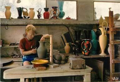 """CPSM FRANCE 06 """" Vallauris, Centre Mondial de la Poterie, artisan au tournage"""""""