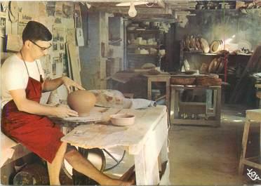 """CPSM FRANCE 06 """" Vallauris, Travail de poterie, tournage"""""""