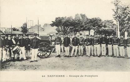 """CPA FRANCE 92 """" Nanterre, Groupe de pompiers"""""""