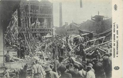 "CPA FRANCE 92 ""Billancourt, Accident de l'Usine Renault en juin 1917"""
