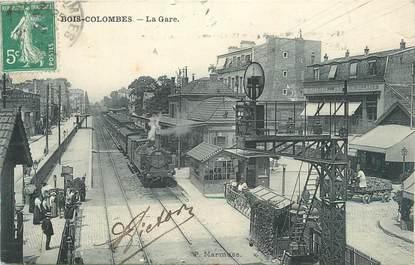 "CPSM FRANCE 92 "" Bois Colombes, La gare"""