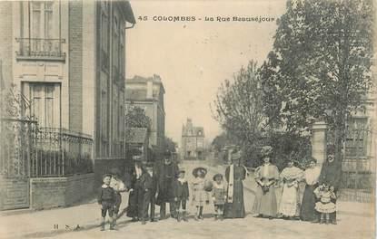 """CPA FRANCE 92 """" Colombes, La rue Beauséjour"""""""