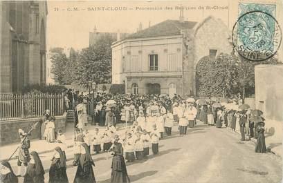 """CPA FRANCE 92 """" St Cloud, Procession des reliques de St Cloud"""""""