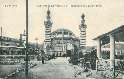 """CPA BELGIQUE """"Liège, panorama"""" / EXPOSITION UNIVERSELLE 1905"""
