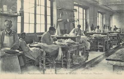 """CPA FRANCE 92 """" Sèvres, Manufacture Nationale de Porcelaine, ateliers des mouleurs"""""""