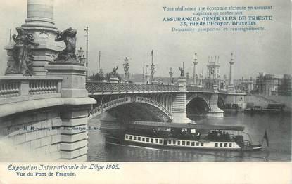 """CPA BELGIQUE """"Liège, vue du pont de Fragnée"""" / EXPOSITION UNIVERSELLE 1905"""