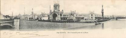 """CPA PANORAMIQUE BELGIQUE """"Liège, vue d'ensemble prise de la Meuse"""" / EXPOSITION UNIVERSELLE 1905"""