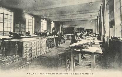 """CPA FRANCE 71 """" Cluny, Ecole d'Arts et Métiers, La salle de dessin"""""""