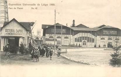 """CPA BELGIQUE """"Liège, le Parc du plaisir"""" / EXPOSITION UNIVERSELLE 1905"""
