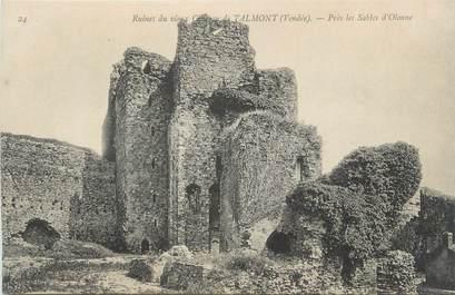 """CPA FRANCE 85 """" Talmont, Les ruines du vieux château"""""""