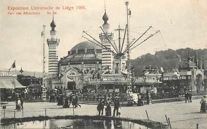 """CPA BELGIQUE """"Liège, le parc des attractions"""" / EXPOSITION UNIVERSELLE 1905  / MANEGE"""