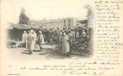 "CPA ALGERIE ""Médéah, le marché arabe"""