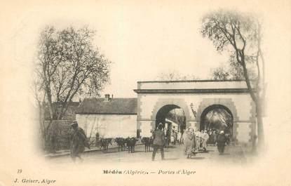 """CPA ALGERIE """"Médéah, Portes d'Alger"""""""
