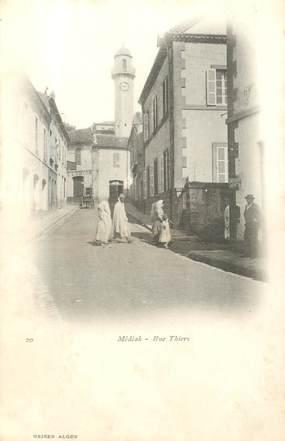 """CPA ALGERIE """"Médéah, la rue Thiers"""""""