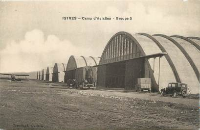 """CPA FRANCE 13 """" Istres, Le camp d'aviation, groupe """""""