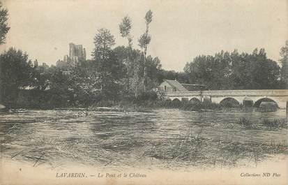 """CPA FRANCE 41 """" Lavardin, Le pont et le château"""""""